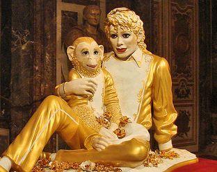 Michael Jackson, statue de Jeff Koons lors de son exposition à Versailles