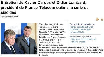 Rencontre Xavier Darcos - Didier Lombard