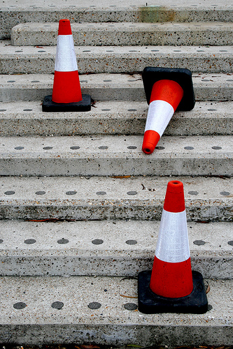 Cones on Steps
