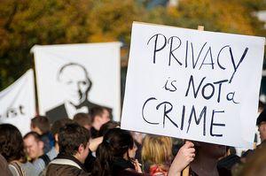 manifestation à Berlin en 2008 pour le droit à la vie privée